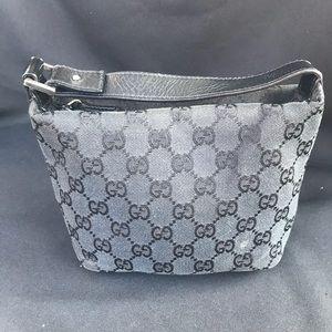 Authentic Gucci bag black purse cosmetic bag